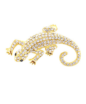 12pc. Brooch - Lizard Gold IMBCBR08782