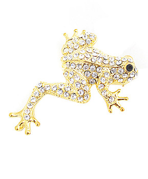 12pc. Brooch - Stretch Frog Gold IMBCBR08982