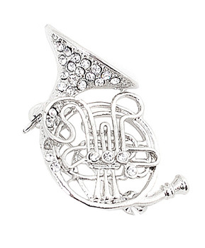 12pc. Brooch - French Horn Silver IMBCBR09211