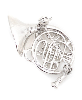 Brooch - French Horn Silver IMBCBR09211