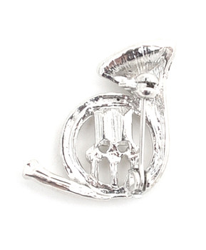 12pc. Brooch - French Horn Silver IMBCBR09261
