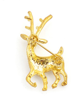 12pc. Brooch - Reindeer Gold IMBCBR09462