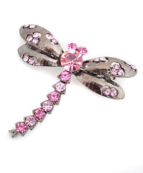 12pc. Brooch - Dragonfly Pink IMBCBR09652
