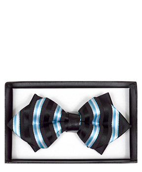 Diamond Tip Banded Bow Tie DBB3030-35