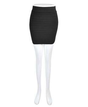 6 Pack Women's Black Slim Mini Stretch Skirt T0423-5444BK