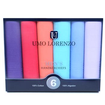 Men's Boxed Fancy Cotton Handkerchiefs 6pcs Set  MSCB1556