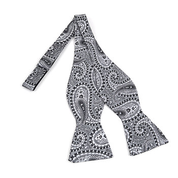 Silk Woven Paisley Freestyle Bow Tie FBS4711