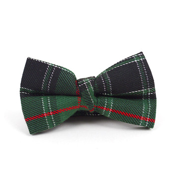 "Kid's 2"" Poly Plaid Banded Bow Ties BBT4005"