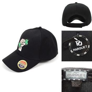 Fist Black Embroidered Baseball Cap