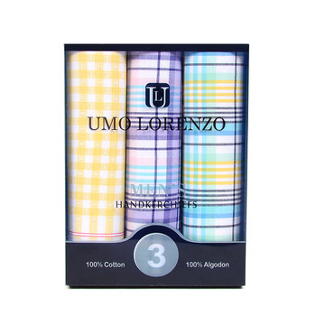 Men's Boxed Fancy Cotton Handkerchiefs 3pcs SetMFB1563