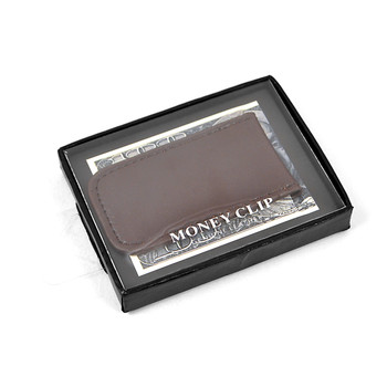 Brown Genuine Leather Money Clip MC912BR