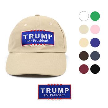 2016 Trump Traditional Cotton Twill Embroidery Patch Blank Baseball Cap, Hat