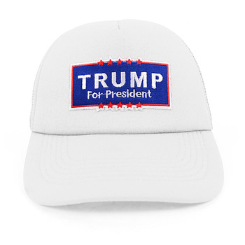 2016 Trump Foam Front Mesh Back Embroidery Patch Trucker Cap, Hat
