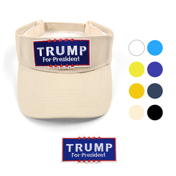 2016 Trump Cotton Twill Embroidery Patch Sun Visors Cap, Hat