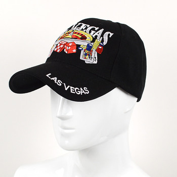 Las Vegas Black 3D Embroidered Baseball Cap, Hat EBC10280
