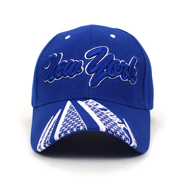 New York Blue 3D Embroidered Baseball Cap, Hat EBC10281