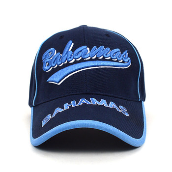 Bahamas Blue 3D Embroidered Baseball Cap, Hat EBC10284