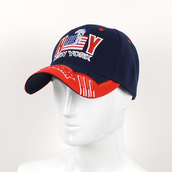 NY Flag Navy Blue Baseball Cap EBC10290