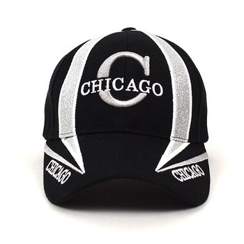 Chicago Black 3D Embroidered Baseball Cap, Hat EBC10299