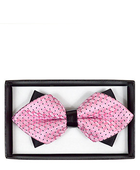 Diamond Tip Banded Bow Tie DBB3030-02