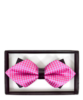 Diamond Tip Banded Bow Tie DBB3030-01
