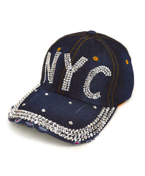 """Bling Studs Cap, Hat """"NYC"""" H9590"""