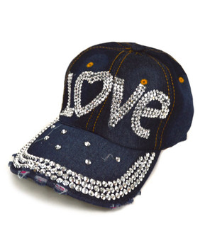 """Bling Studs Cap """"Love"""" CP9592"""