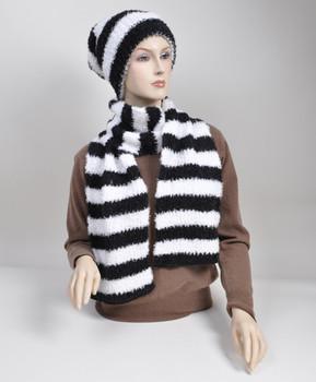 Women's Acrylic Scarf & Hat Set HY6