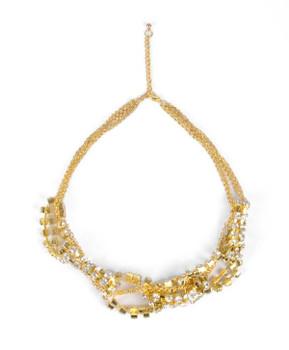 Cluster Necklace an9001d Earrings Set - OE0031GD