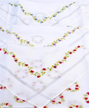 Boxed Fancy 3pc. Ladies Cotton Handkerchiefs WFH3030