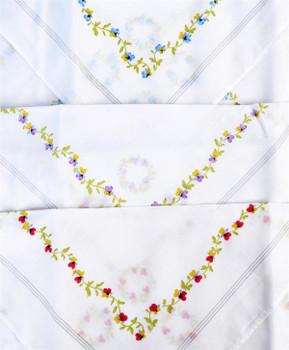 Boxed Fancy 6pc. Ladies Cotton Handkerchiefs WFH6020