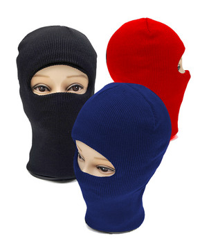 One Hole Open-Face Knit Ski Mask LH1001