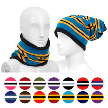 12pc Striped Acrylic 2-in-1 Winter Head and Neck Warmer LS1010