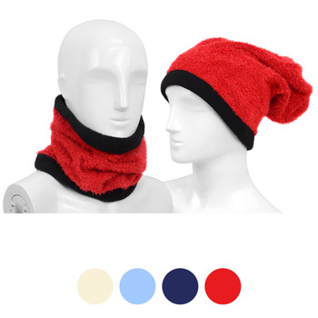 12pc Solid Acrylic 2-in-1 Winter Head and Neck Warmer LS1020