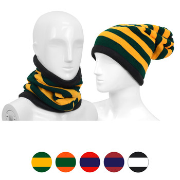 12pc Striped Acrylic 2-in-1 Head and Neck Warmer LS1030