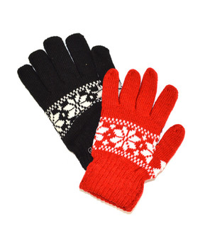 12 Pack Ladies Knit Winter Gloves GL1000