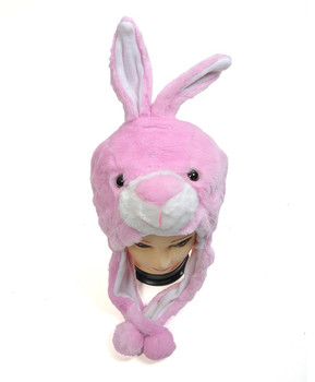 6pc Pre-Pack Animal Plush Hat - Pink Bunny HATC1200