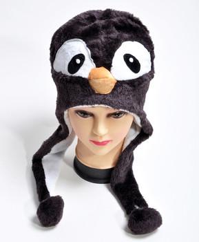 6pc Pre-Pack Animal Fleece Hats - Penguin HATCW111255