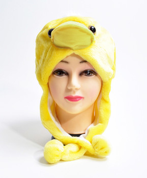 6pc Pre-Pack Animal Fleece Hats - Yellow Chick HATCW111385