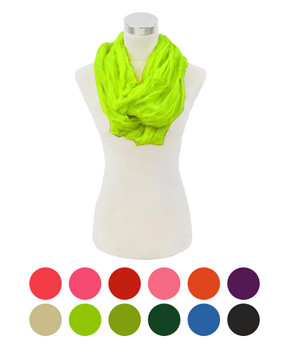 12pc Light Viscose Infinity Scarf LS4310IF