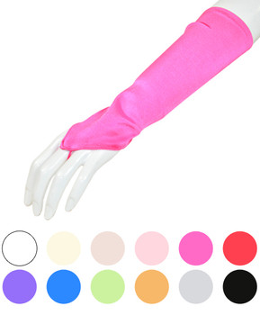 Women's Satin Fingerless Below Elbow Glove WF810-8
