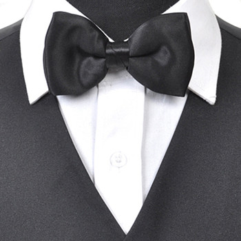 Banded Solid Silk Bow Tie SBB1301