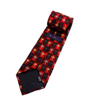 """Cross"" Novelty Tie NV4434-RD"