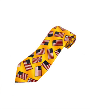 Flags Novelty Tie NV4455-YW