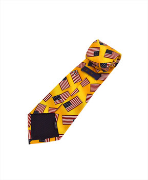 """Flags"" Novelty Tie NV4455-YW"