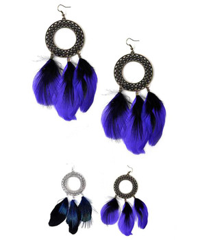 40pc Assorted Dangle Earrings Feather Set - IME12032