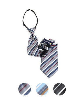 """Men's Zipper Ties for 5'5"""" Tall or less - MPWZ1853"""