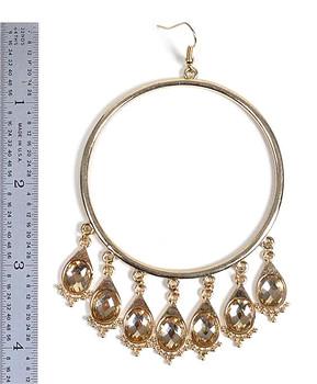 Chandelier Earrings Hoop - IMJJ2875