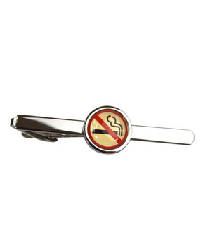 No Smoking Novelty Tie Bars TB1718