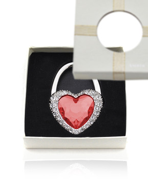 Crystal and Rhinestone Heart Folding Hanging Hook Y11016
